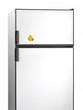 Old fridge with banana plastic magnet