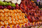 Shop display of fruit in turky.