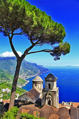 beautiful Amalfi coast, Ravelo village. Italy