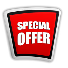 special offer on red banner