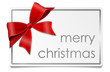 Karte Schleife merry christmas