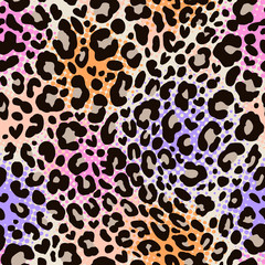 colorful leo seamless pattern