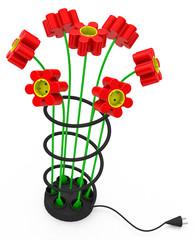 Die Blumensteckdose