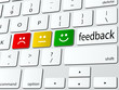 Online feedback computer keyboard icon - 58956390