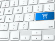 Online shopping cart computer keyboard icon