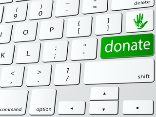 Online donate computer keyboard icon
