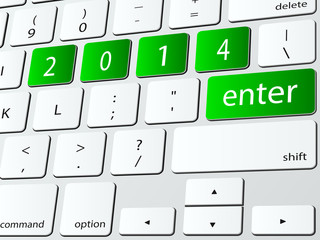 Enter 2014 computer keyboard icon