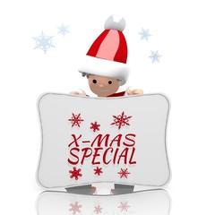 mini santa claus presents christmas special label