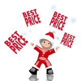 mini santa claus juggles best price sign