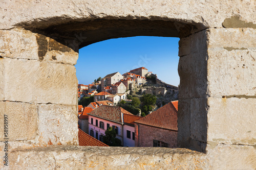 Town Dubrovnik in Croatia