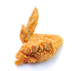 Fried Chicken Wing On White background