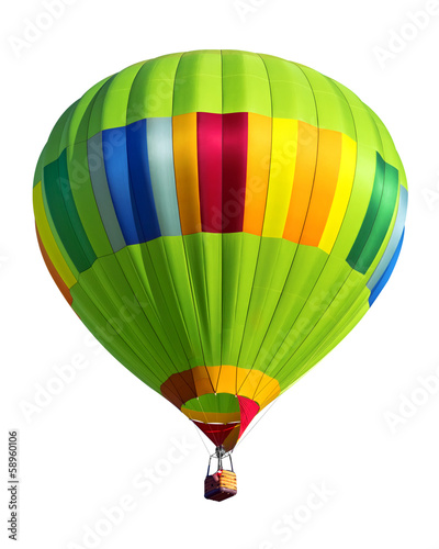 hot air balloon isolated - 58960106