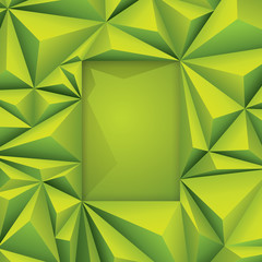 Green geometric background.