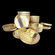 Golden Bitcoin - isolated with clipping path