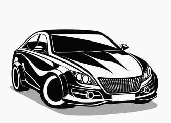 Siyah spor otomobil