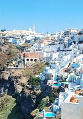 Fira village on Santorini island, Greece