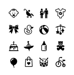 Web icon set. Baby