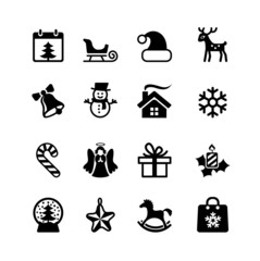 Christmas and New Year. Web icon set