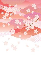 桜_和柄_白