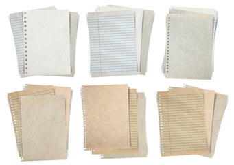 Paper sheet isolated on white background