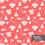Seamless background for Jewish holiday Purim