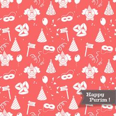 Seamless background for Jewish holiday Purim