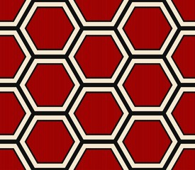 seamless modern orange hexagonal pattern