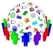 Social Media Sphere Teamwork