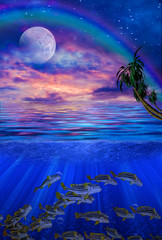 Under water tropics illustration