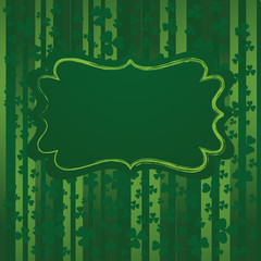 St.Patrick day background in green color