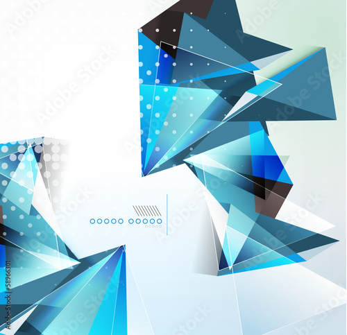 Vector triangle geometric shape background