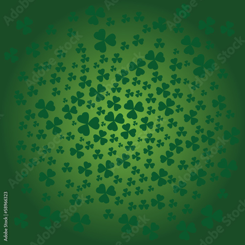St Patrick day background in green color
