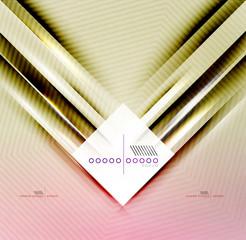 Vector blur lines geometric shape background