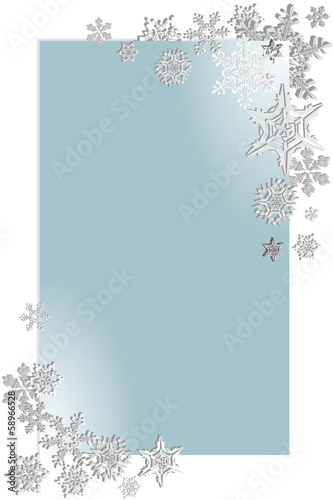 snowflake  on blue background 4