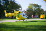 Air ambulance and car ambulance