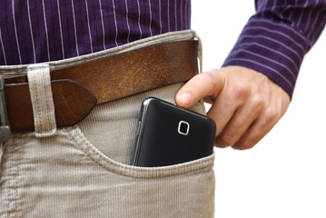 too big mobile phone in pants