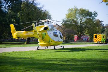 Air ambulance and car ambulance