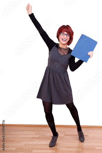 Young woman enjoying recovered Application
