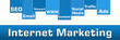 Internet Marketing Blue Stripe Banner