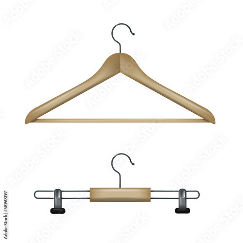 Clothes hangers. Vector format