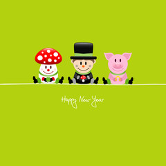Fly Agaric, Chimney Sweeper & Pig Lucky Charms