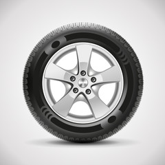 car tire, vector