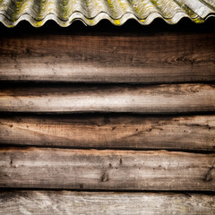 Wood Background with Roof