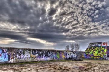 Tetto edificio abbandonato
