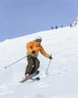 dynamisch auf Skiern unterwegs