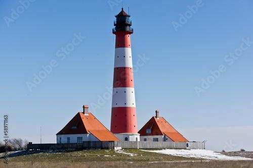 canvas print picture Leuchtturm Westerhever