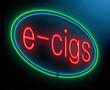 E-cigarette concept.