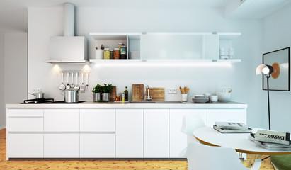 weiße luxus Küche - white luxury kitchen