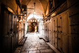 Ancient Alley in Jewish Quarter, Jerusalem, Israel. - 58972319
