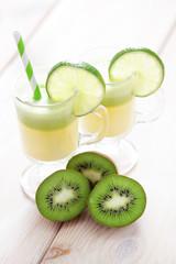 kiwi and melon juice